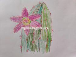 """""""Cactus flower"""", por  Olivia Meyer e colaboração de Birgit Meyer"""